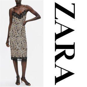 Zara Leopard Camisole Dress